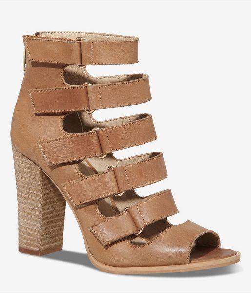 044530ddf Leather Velcro Strap Runway Sandal
