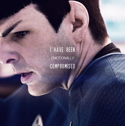 :) Spock to me is a beautiful character....I LOVED Nimoy but Quintos plays a beautiful Spock to me...