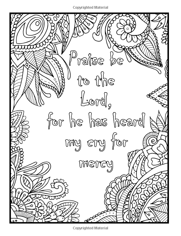 free coloring pages with religious themes | Amazon.com: Psalms in Color: An Adult Coloring Book with ...