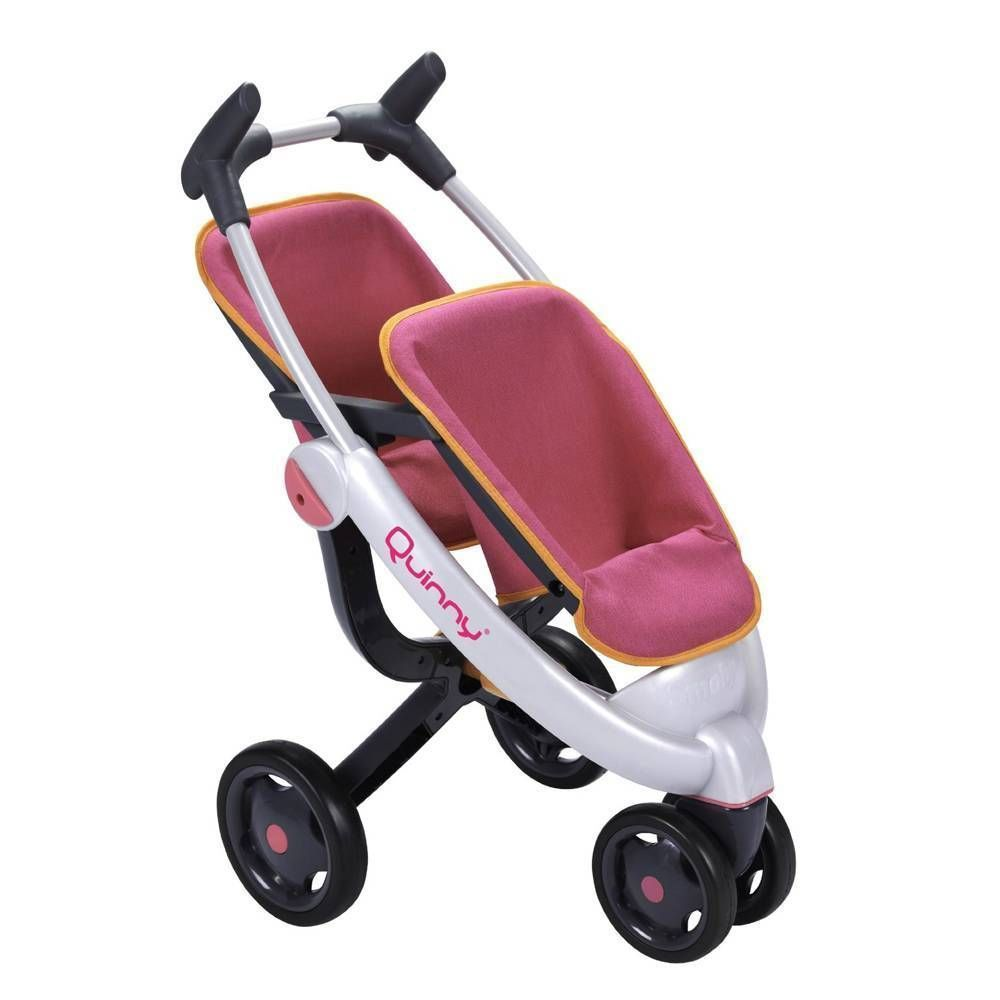 new smoby quinny maxi cosi dolls toy twin 3 wheel stroller buggy my posh picks. Black Bedroom Furniture Sets. Home Design Ideas