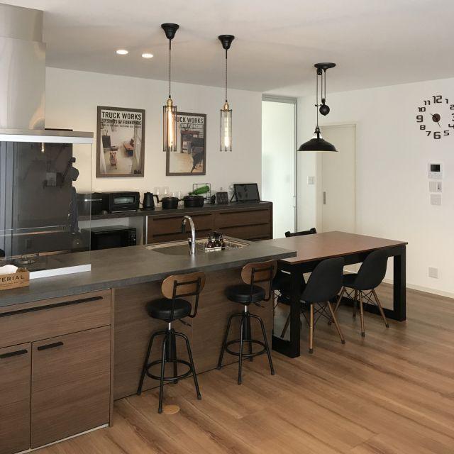 キッチン ウォールナット Journalstandardfurniture アルモニア テーブル ブラウンが好き などのインテリア実例 2017 11 06 10 27 33 Roomclip ルームクリップ キッチンのデコレーション 居心地の良いキッチン キッチンデザイン