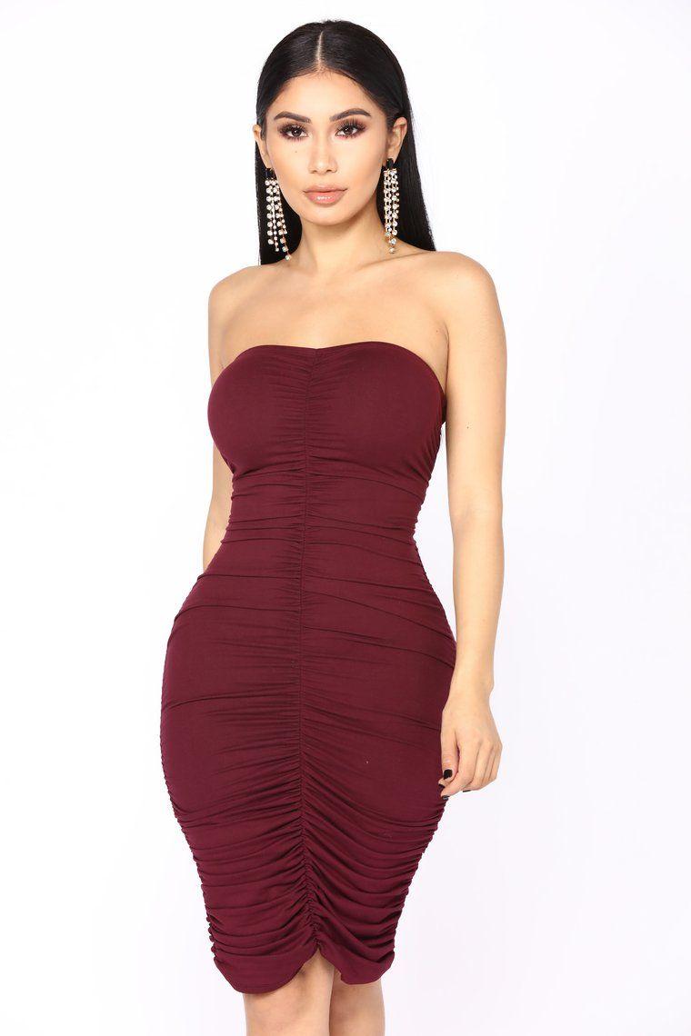 Li Ruched Dress Eggplant Fashion nova dress, Ruched