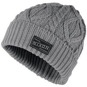 91db4790 Nixon - Heather Gray Retake Beanie Hat #mens #hats #christmas ...