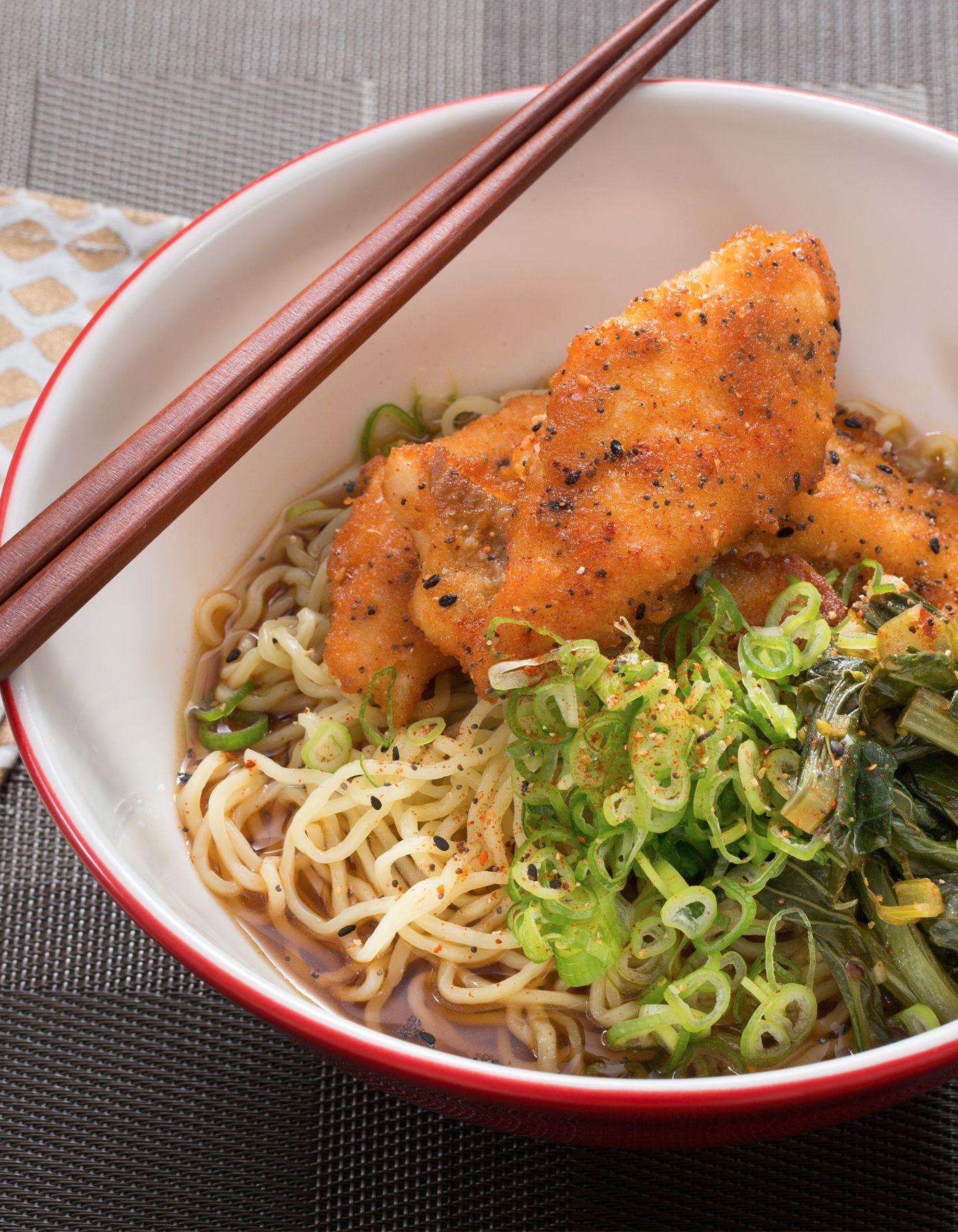 Blue apron yuzu kosho - Crispy Catfish Shoyu Ramen With Yu Choy Fresh Ramen Noodles