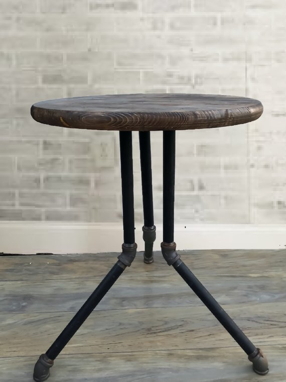 Industrial Pipe Tripod End Table In 2019 | Products ...