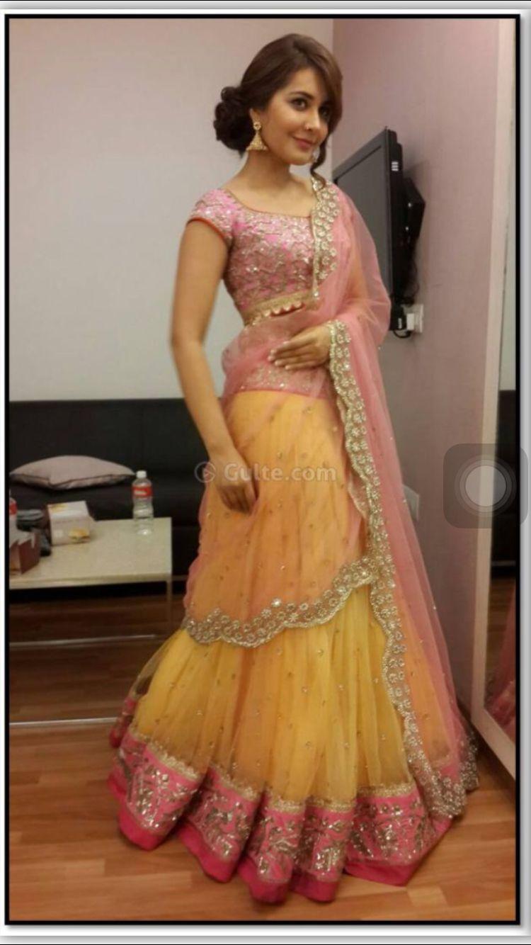7cf25682b9 Yellow n pink elegant Lehenga choli | Lehenga Cholis in 2019 | Rashi ...