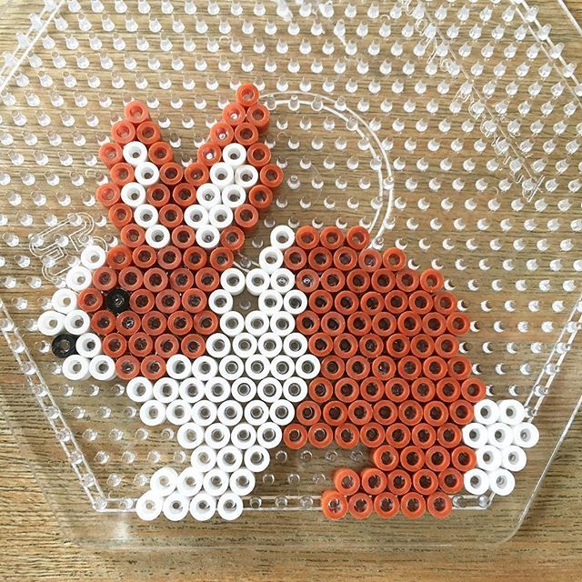 Rabbit hama beads by gerthlein