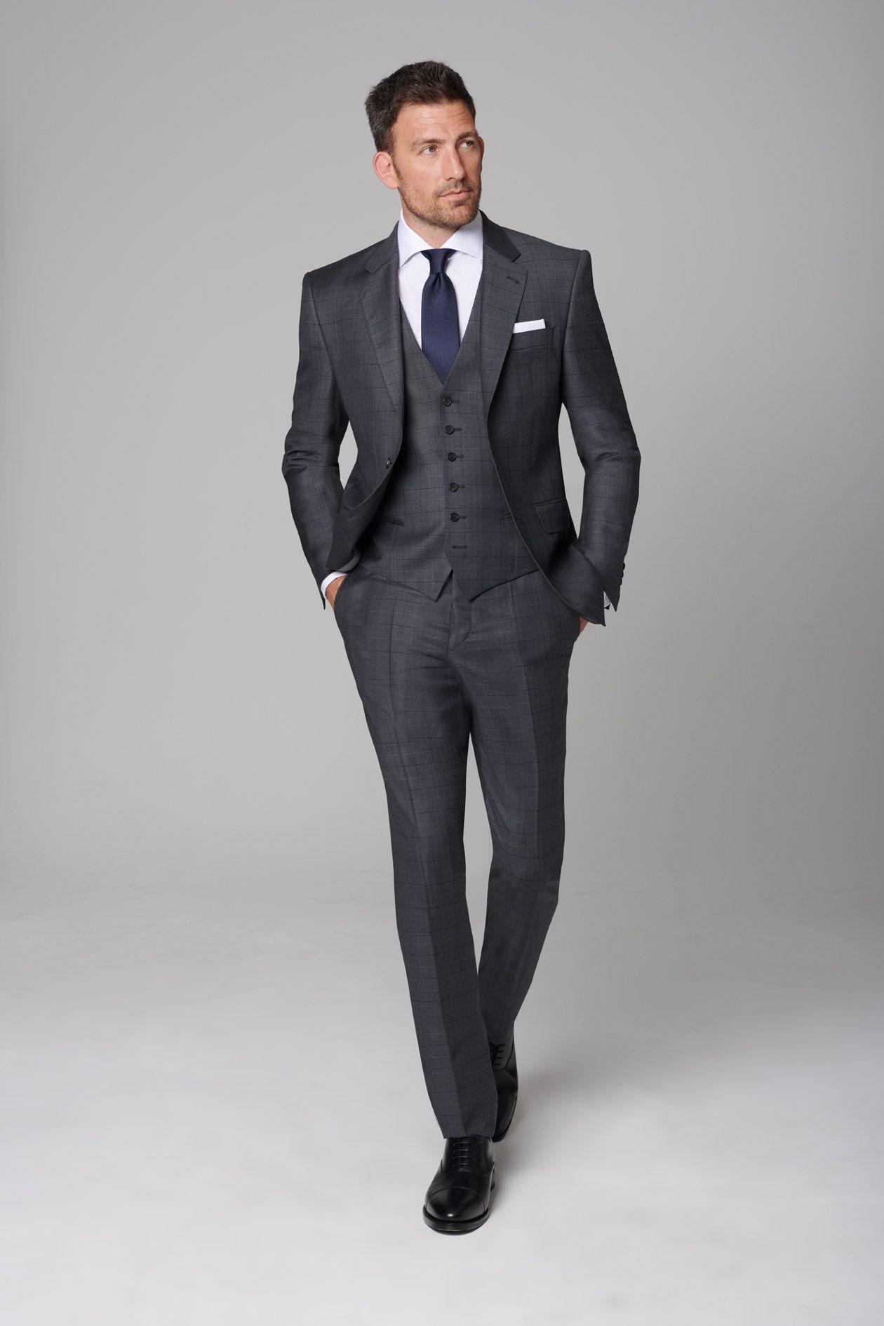 Mit Diesem Anthrazitfarbenen Executive Anzug In Feinem Karo Muster Nach Mass Von Dolzer Sorgen Sie Fur Eine Pr Herrenmode Anzuge Manner Anzug Anzug Und Krawatte