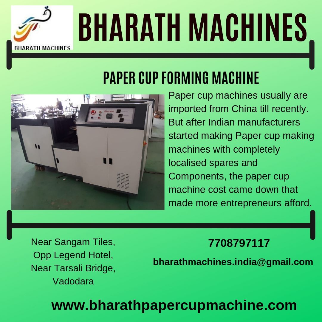 for more details visit: www bharathpapercupmachine com (or