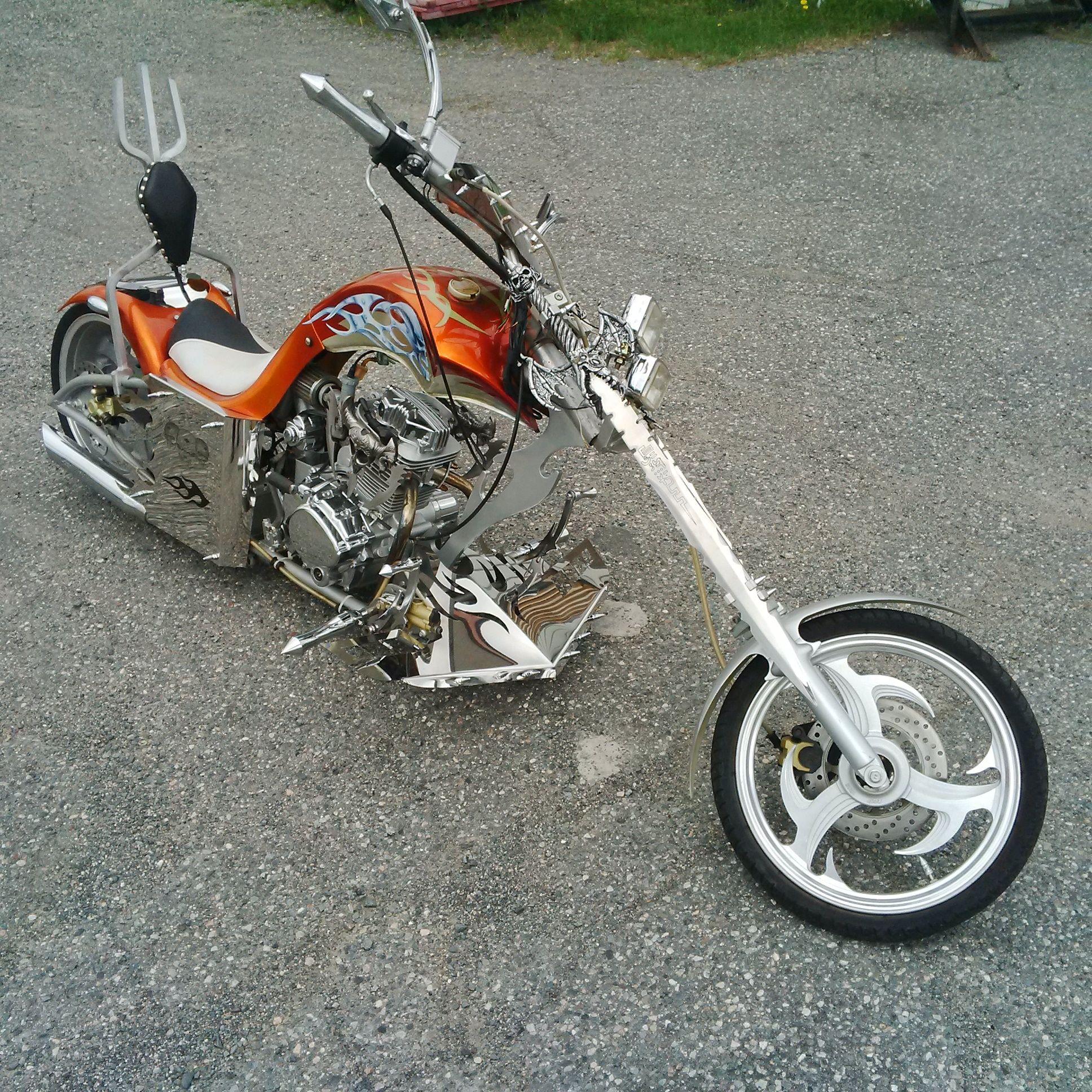 3/4 mini chopper motorcycle | 200 cc mini chopper.The ...
