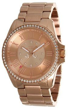 Juicy Couture Juicy Couture 1901011 Stella Crystals Women's Rose Gold SS Watch