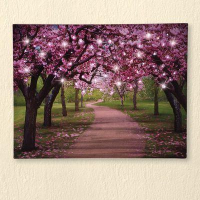 Lighted Cherry Blossom Trees Canvas Home Decor Catalogs Diy Home Decor Canvas Decor