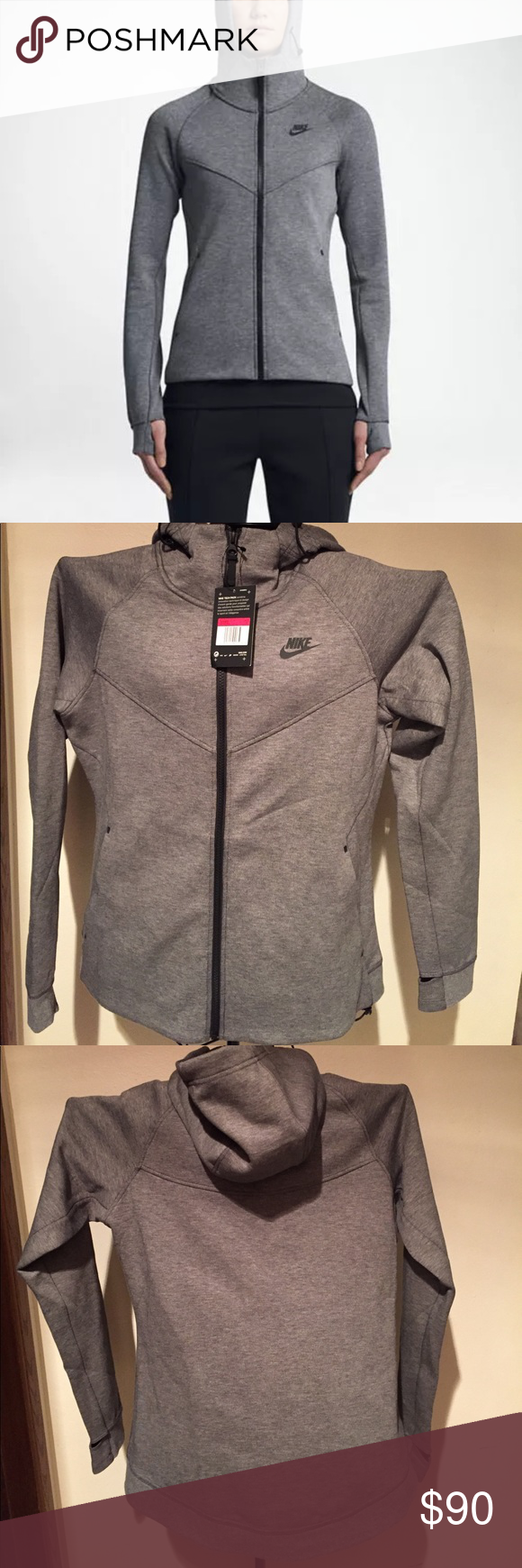 b05c42de2201 Nike tech jacket in grey with black logo NWT! Beautiful and straight up  dope!