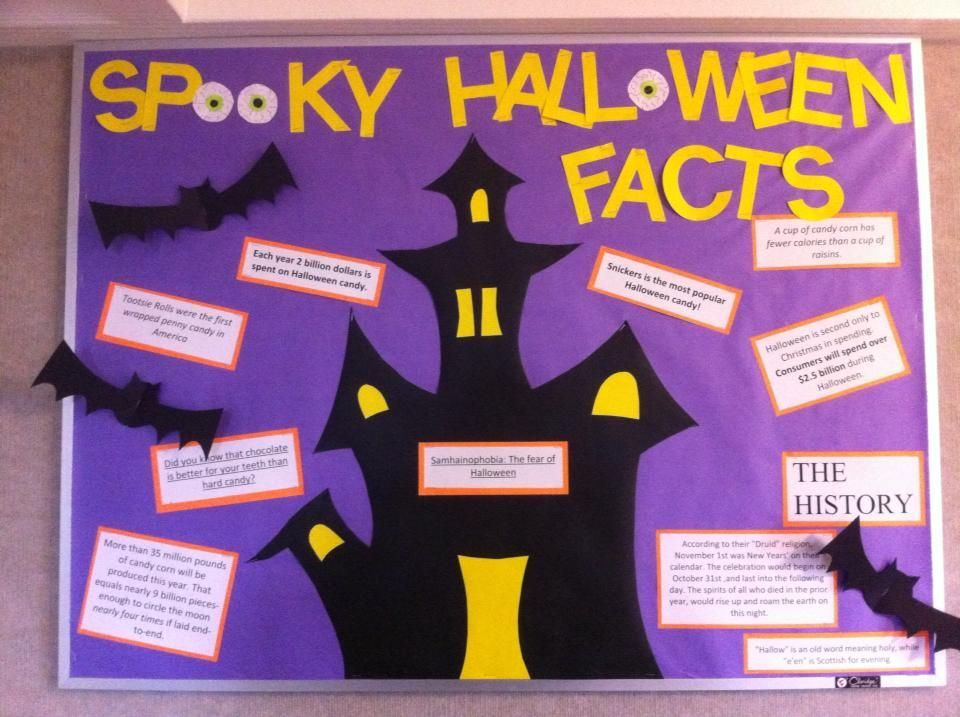 A board about Halloween! Very fun to make- I loved getting creative with the haunted mansion. Bulletin boards, Resident Advisor, Resident Assistant, ResLife, Residence Life #octoberbulletinboards A board about Halloween! Very fun to make- I loved getting creative with the haunted mansion. Bulletin boards, Resident Advisor, Resident Assistant, ResLife, Residence Life #octoberbulletinboards