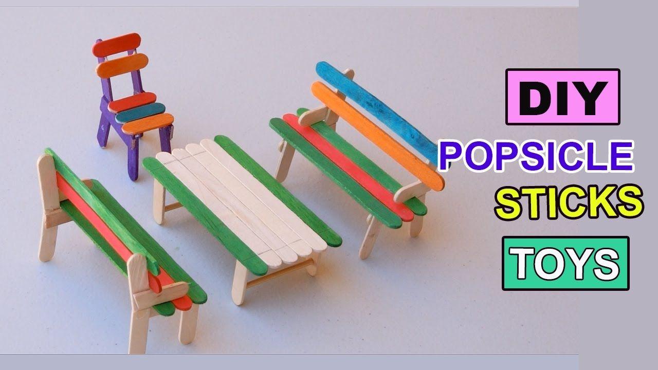 Diy Popsicle Sticks Toys How To Make Furniture Backyard Crafts Diy Popsicle Stick Crafts Craft Stick Crafts Popsicle Crafts