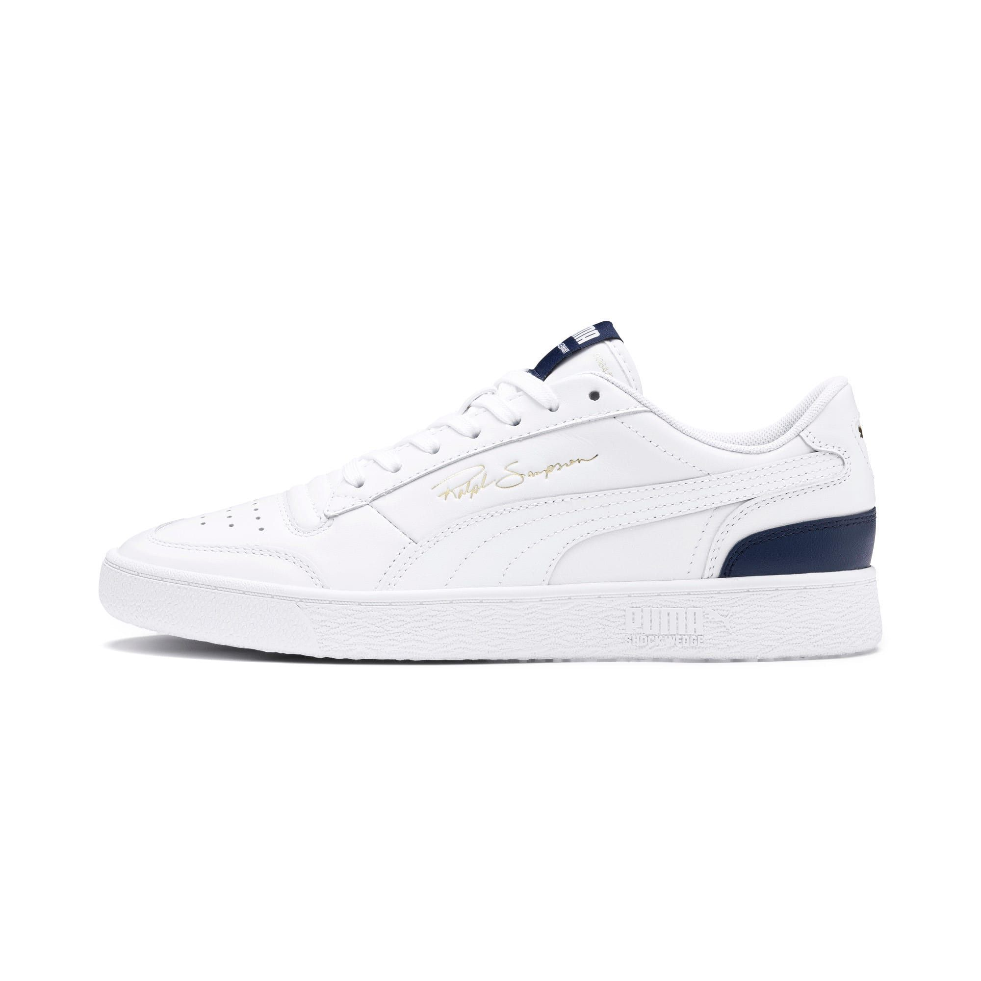 Men's PUMA Ralph Sampson Lo Trainers, White/Peacoat/White, size 5.5, Shoes