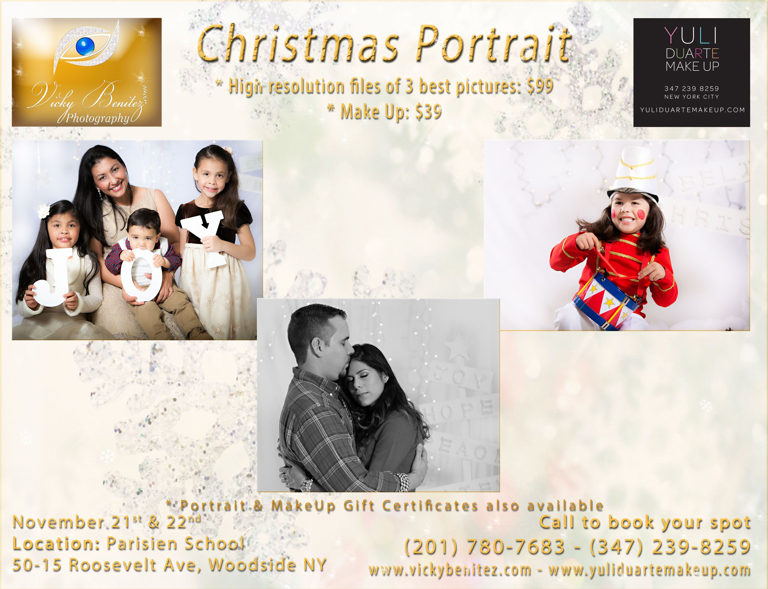 Christmas portrait vicky benitez photography pinterest