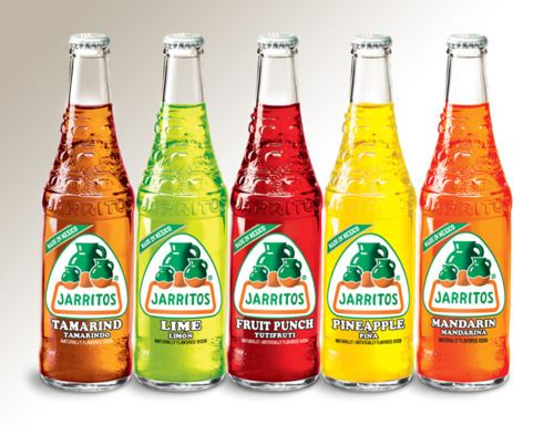 Jarritos- buy at the Mexican section of Walmart, Woodmans  I