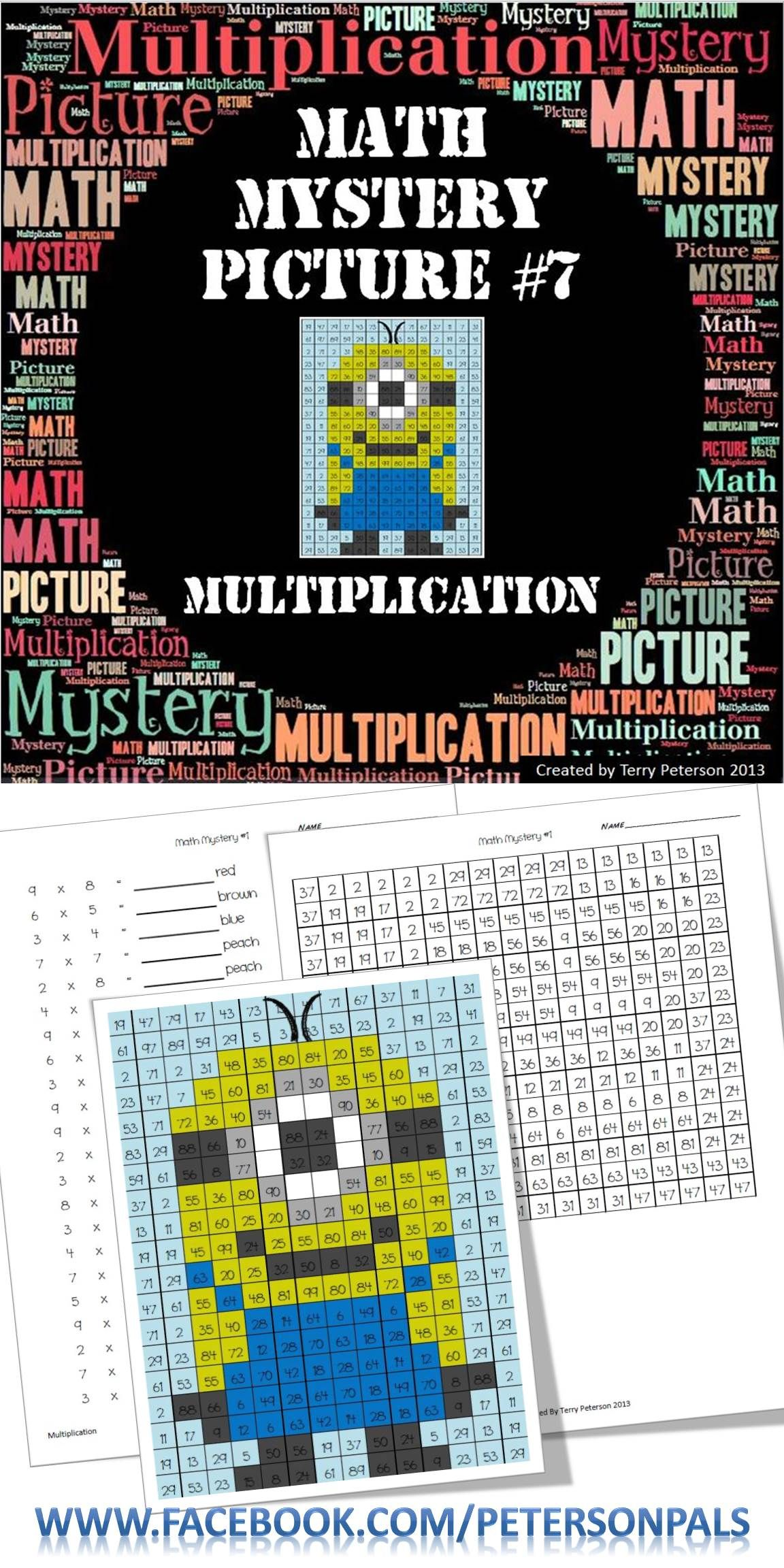 Math Mystery Picture 7 With Multiplication This A Fun
