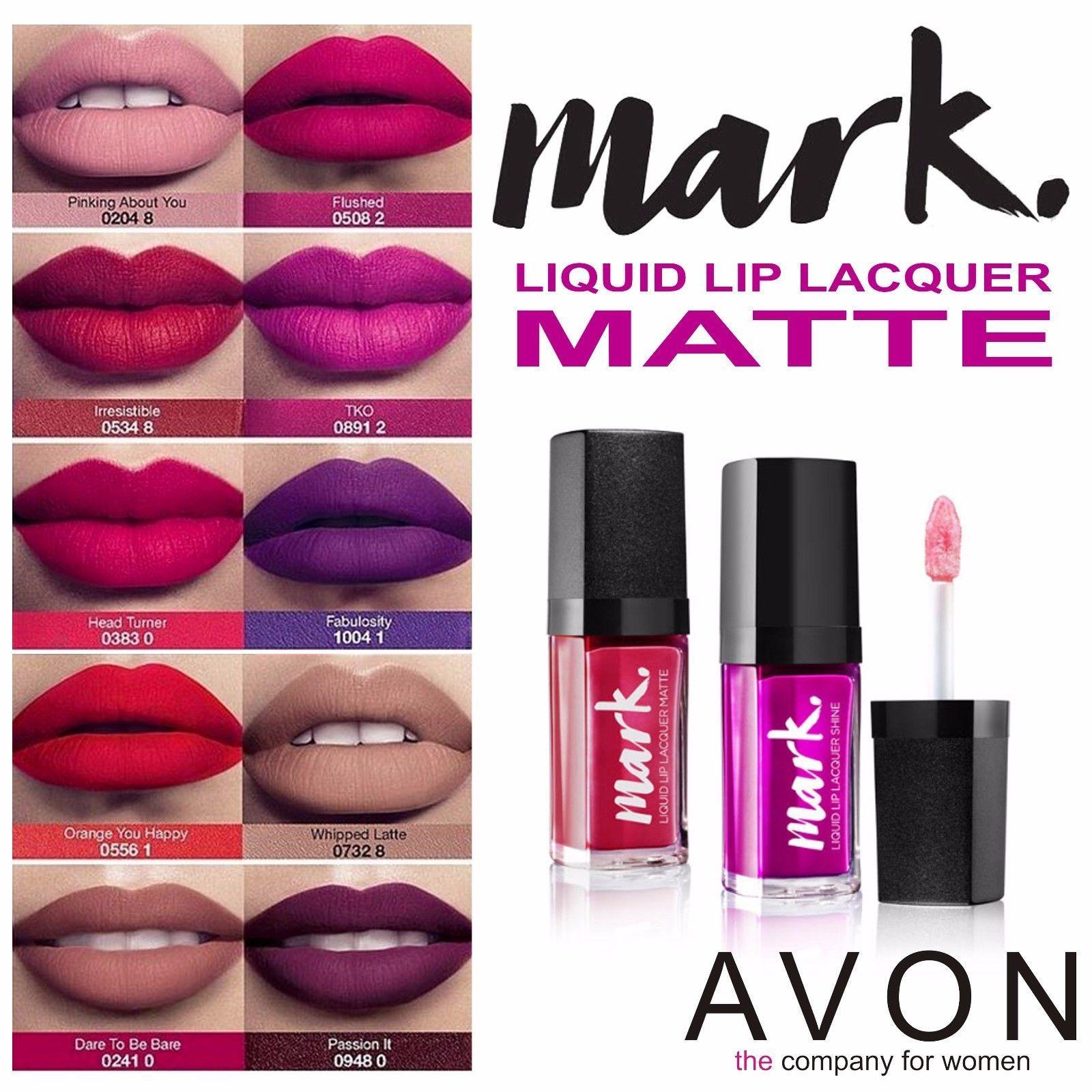 Avon Mark Liquid Lip Lacquer 10 Various Matte Shades The Latest