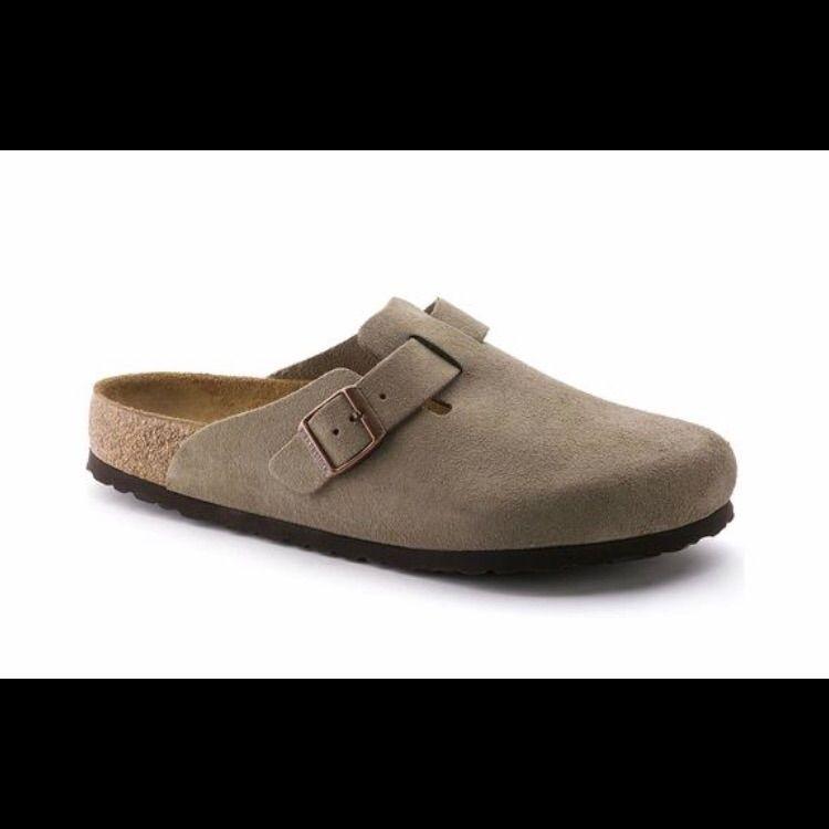 Zapatos grises casual Birkenstock Boston para mujer EONmj