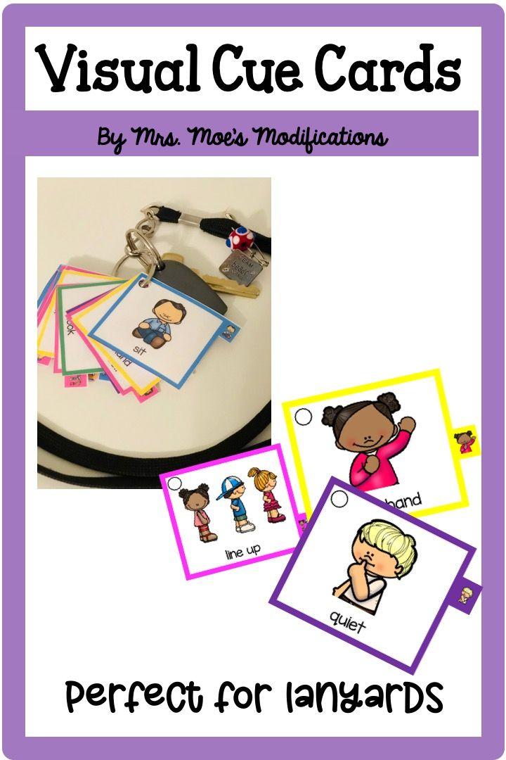 Visual Cue Cards   Creative teaching, Teaching first grade ...
