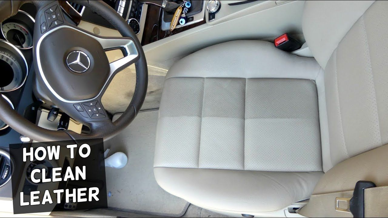 How to clean car leather seats amazing results clean