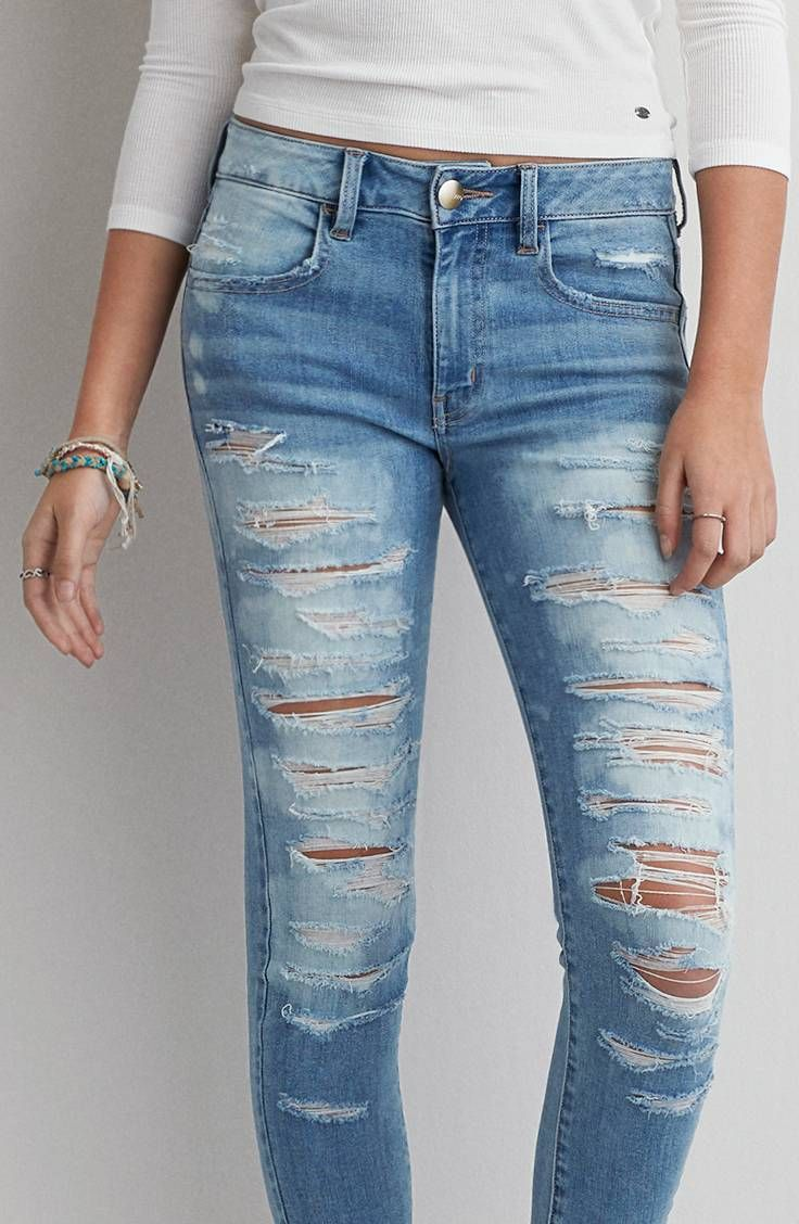 Jegging tiro alto Denim X AEO by American Eagle Outfitters