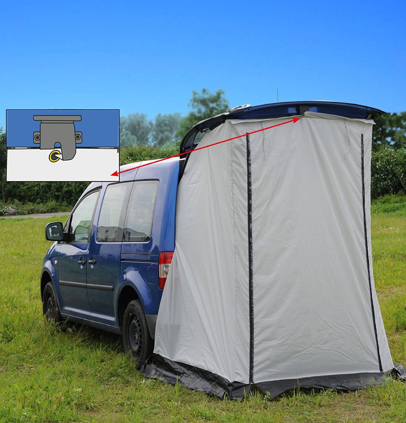 Reimo Vertic Cabin Tailgate Tent For Mini Campers ...