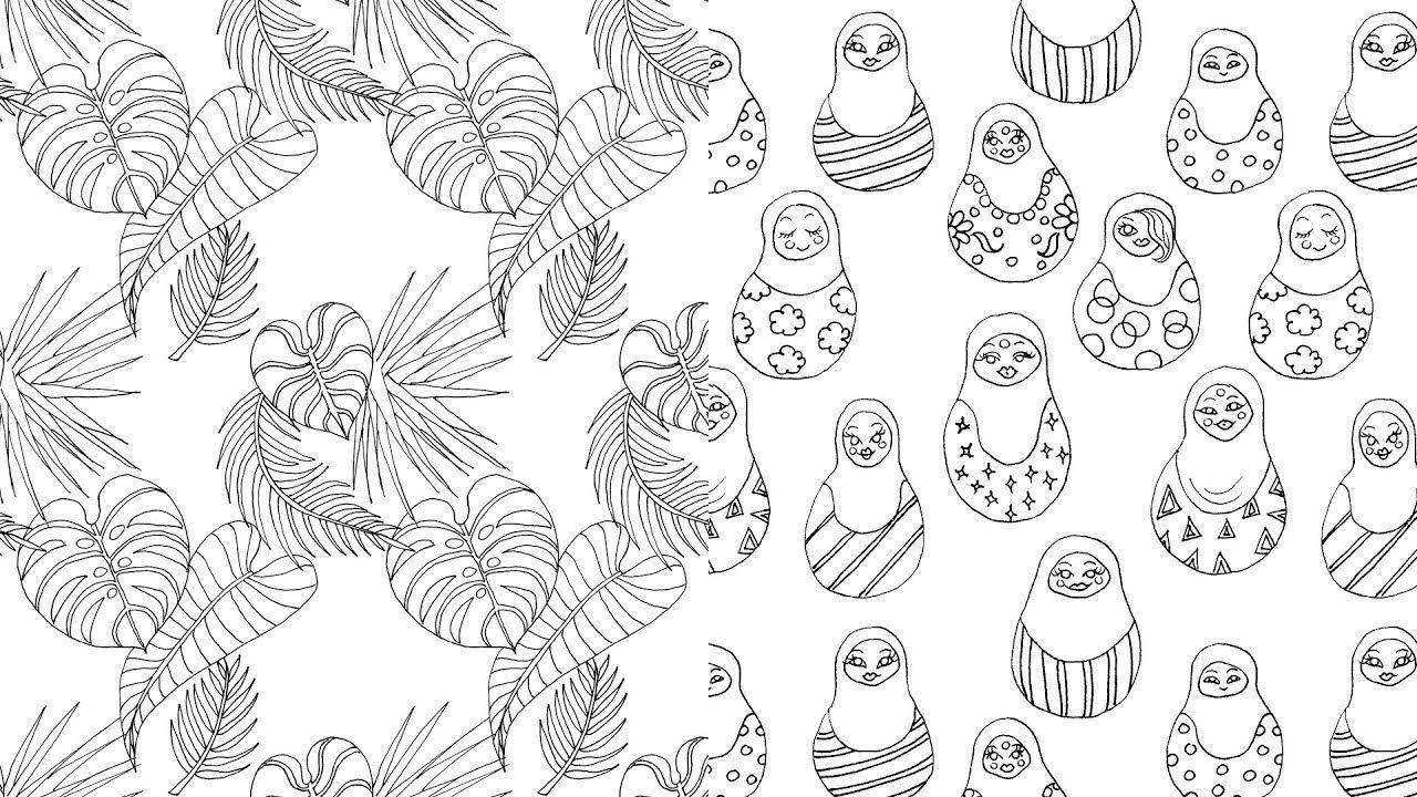 How To Make A Seamless Pattern In Gimp How To Make A Seamlessly Repeating Pattern Of Your Lineart Drawings Using Gimp Seamless Patterns Drawings Creative Art