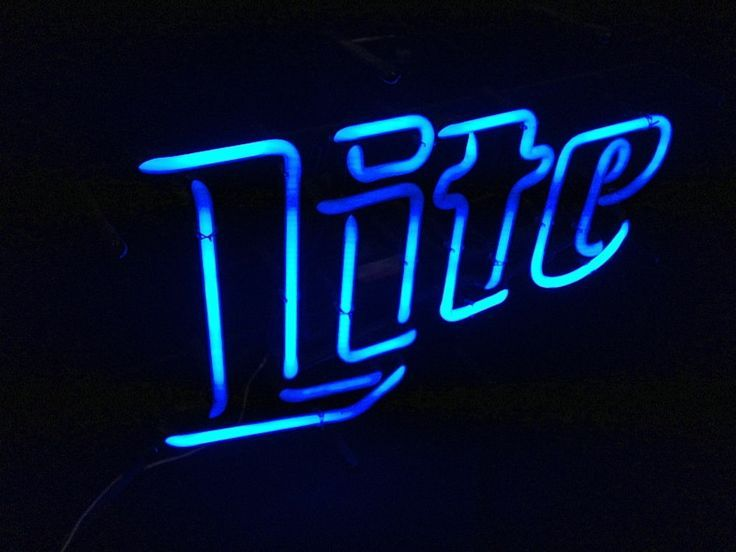 Vintage Neon Beer Signs Extraordinary Vintage Miller Lite Blue Neon Beer Sign Cool Retro  Neon Etc