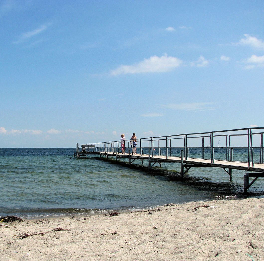 Amager Beach Park pier for swimmers at amager strand park | beach, outdoor