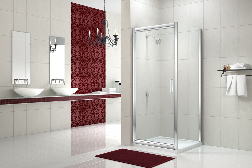 8 Series Infold Door with Side Panel #MerlynShowering #Luxury ...