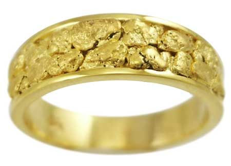 75mm Genuine Gold Nugget Ring board Pinterest Ring Gold and