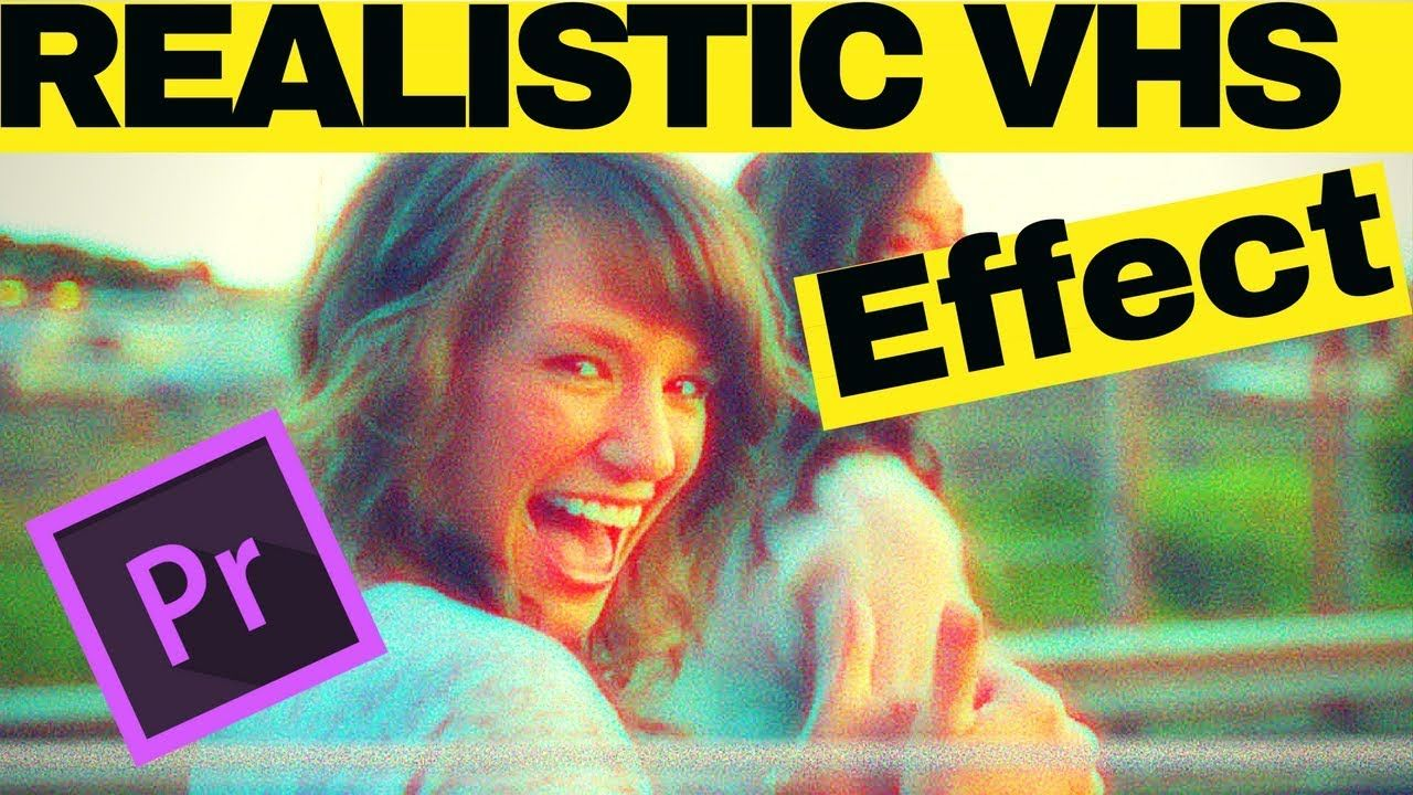 Learn how to add realistic VHS effect to your video i