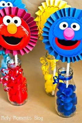 Sesame Street Elmo Themed Birthday Party Party Pinterest