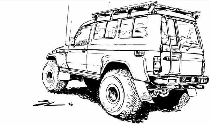 pin by darrell ong on land cruiser artwork