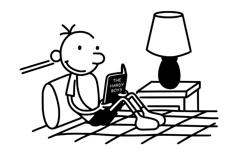 Greg Heffley (Diary of a Wimpy Kid) reads The Hardy Boys