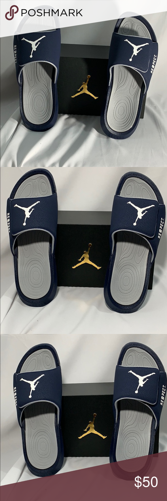 6ed39f42076 Jordan Hydro 6 RE2PECT SIZE 10 Blue / Gray Jordan Hydro 6 RE2PECT SIZE 10  NAVY/WHITE- WOLF GREY, AH6733 402 NWT Nike Shoes Loafers & Slip-Ons