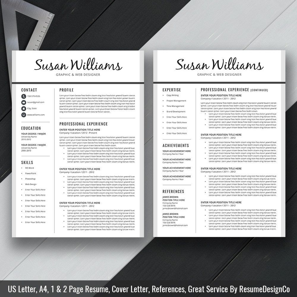 What Does A Professional Resume Look Like Professional Resume Template Cover Letter Cv Template Us Letter .