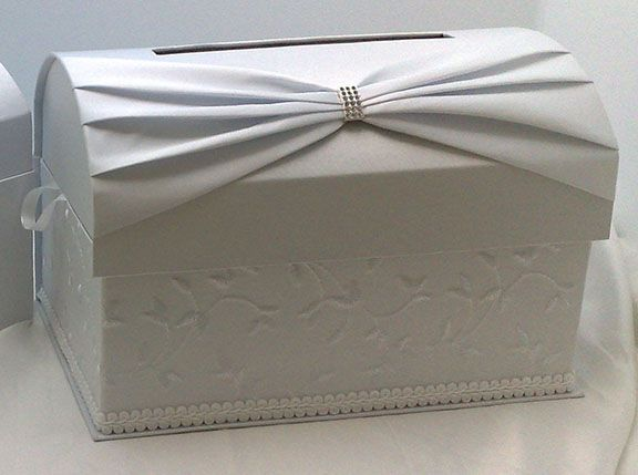 How To Decorate A Card Box For A Wedding White Sash Embroidered Card Box  Teres's Board  Pinterest