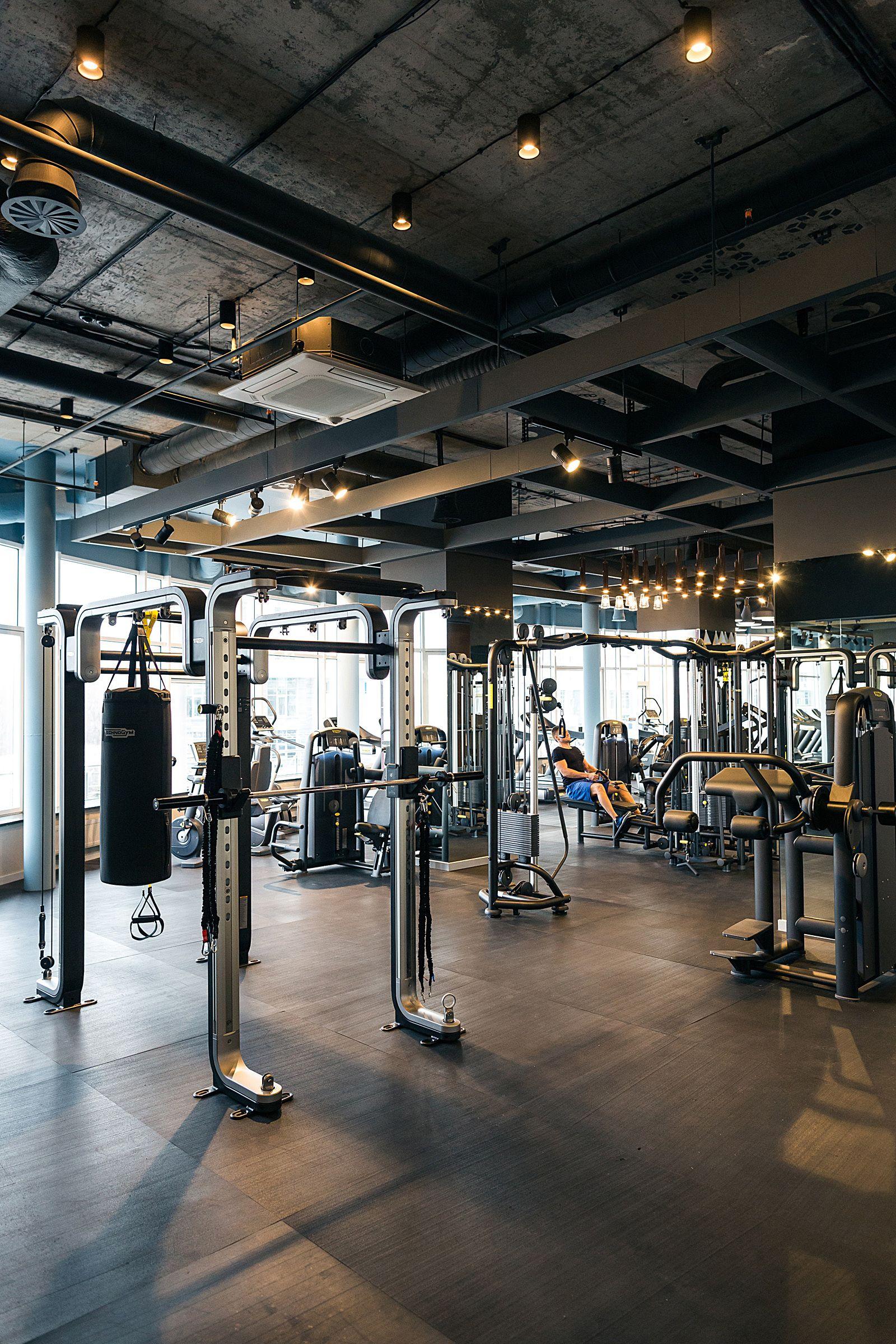 Kiev fitness club gym design
