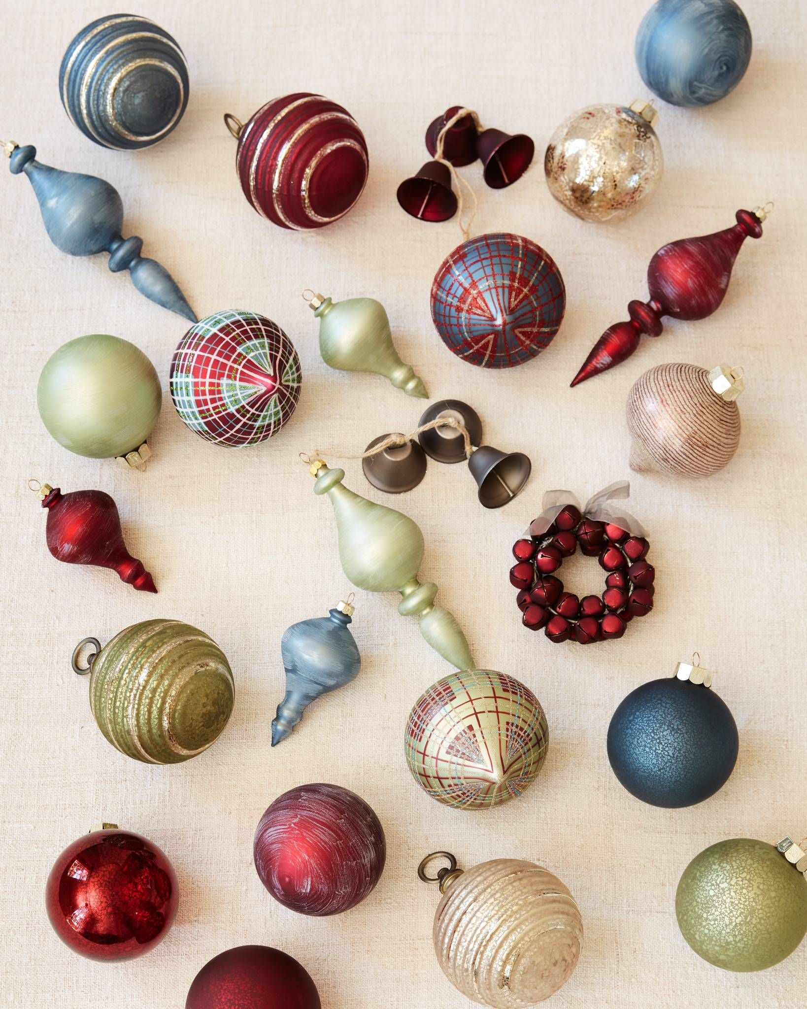 Farmhouse Christmas Ornament Set Balsam Hill Farmhouse Christmas Ornaments Christmas Ornament Sets Christmas Swags