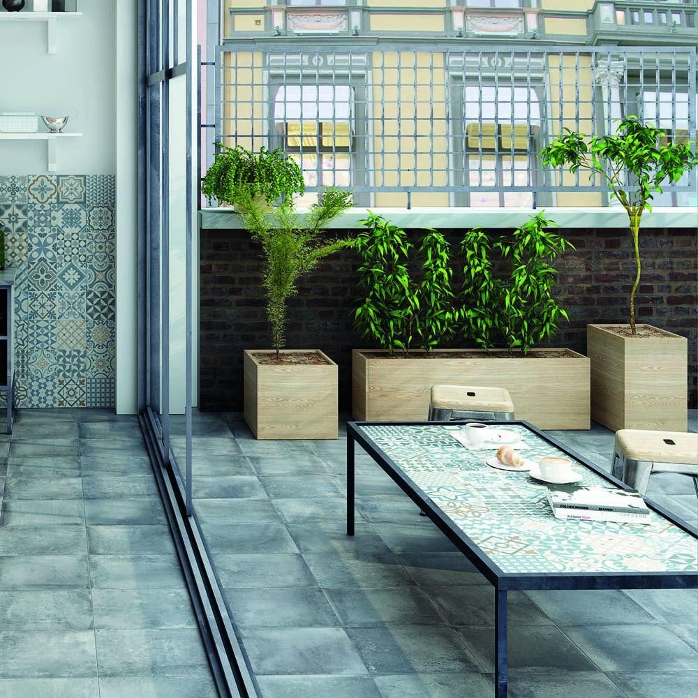 Merola Tile Rustic Gris 13 in. x 13 in. Porcelain Floor and Wall ...
