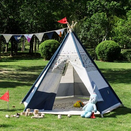 Plane Pentagon Teepee - Kids Outdoor Tent - All4Kids & Plane Pentagon Teepee - Kids Outdoor Tent - All4Kids | Teepee ...