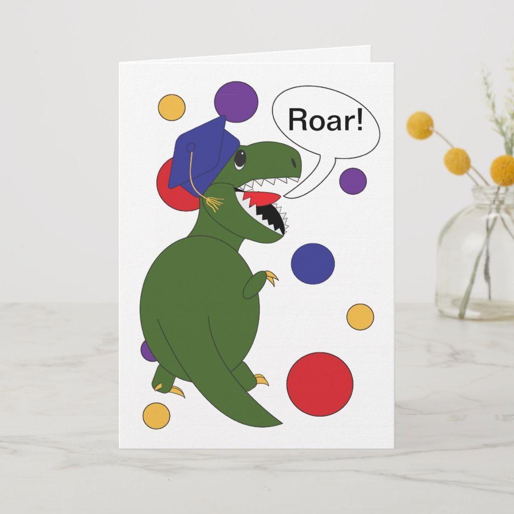 Graduation Tyrannosaurus Rex Card | Zazzle.com #tyrannosaurusrex