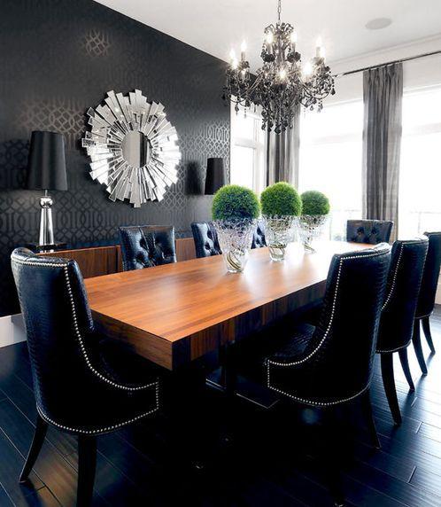 Sugestões De Decoração Para Uma Sala De Jantar Elegante  Stylish Best Dark Grey Dining Room Inspiration Design
