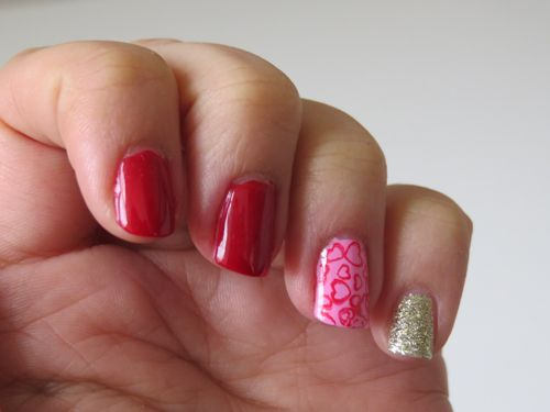 Valentine's nails #valentinesday #nailart