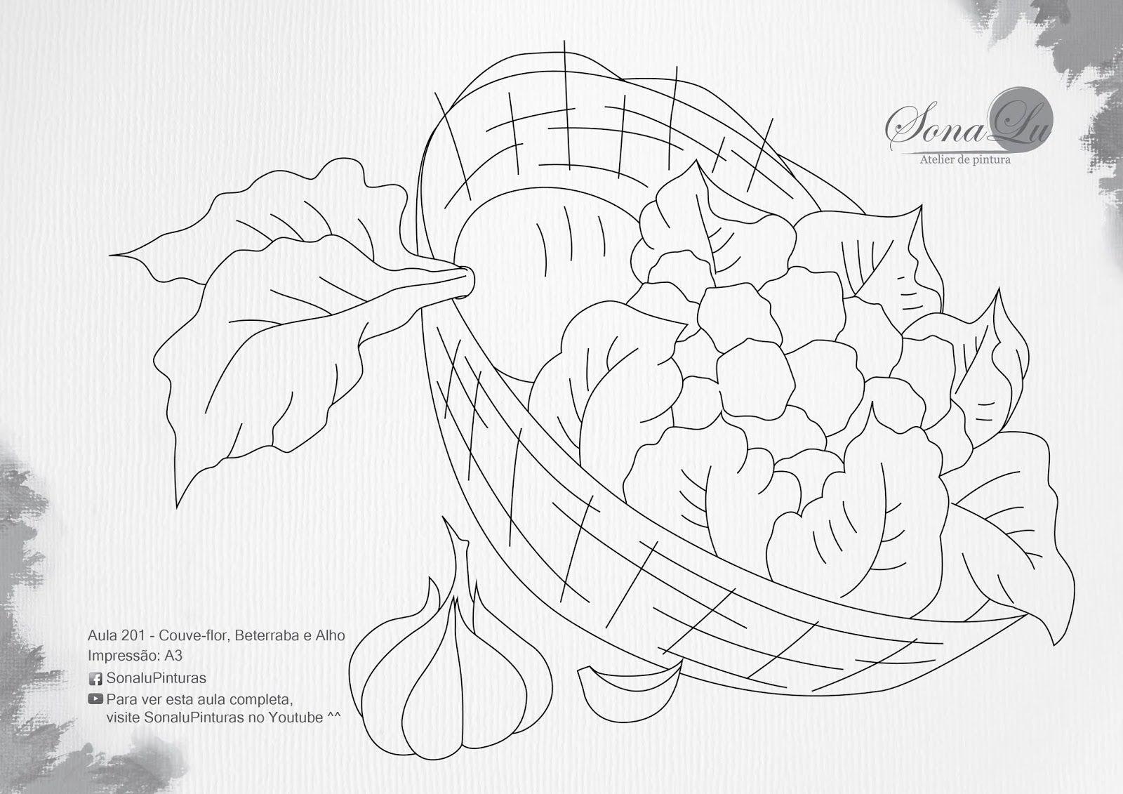 201+Couve-flor+Beterraba+e+Alho-02.jpg (1600×1131) | Padrões de bordado,  Riscos para pintura, Pintura em tecido