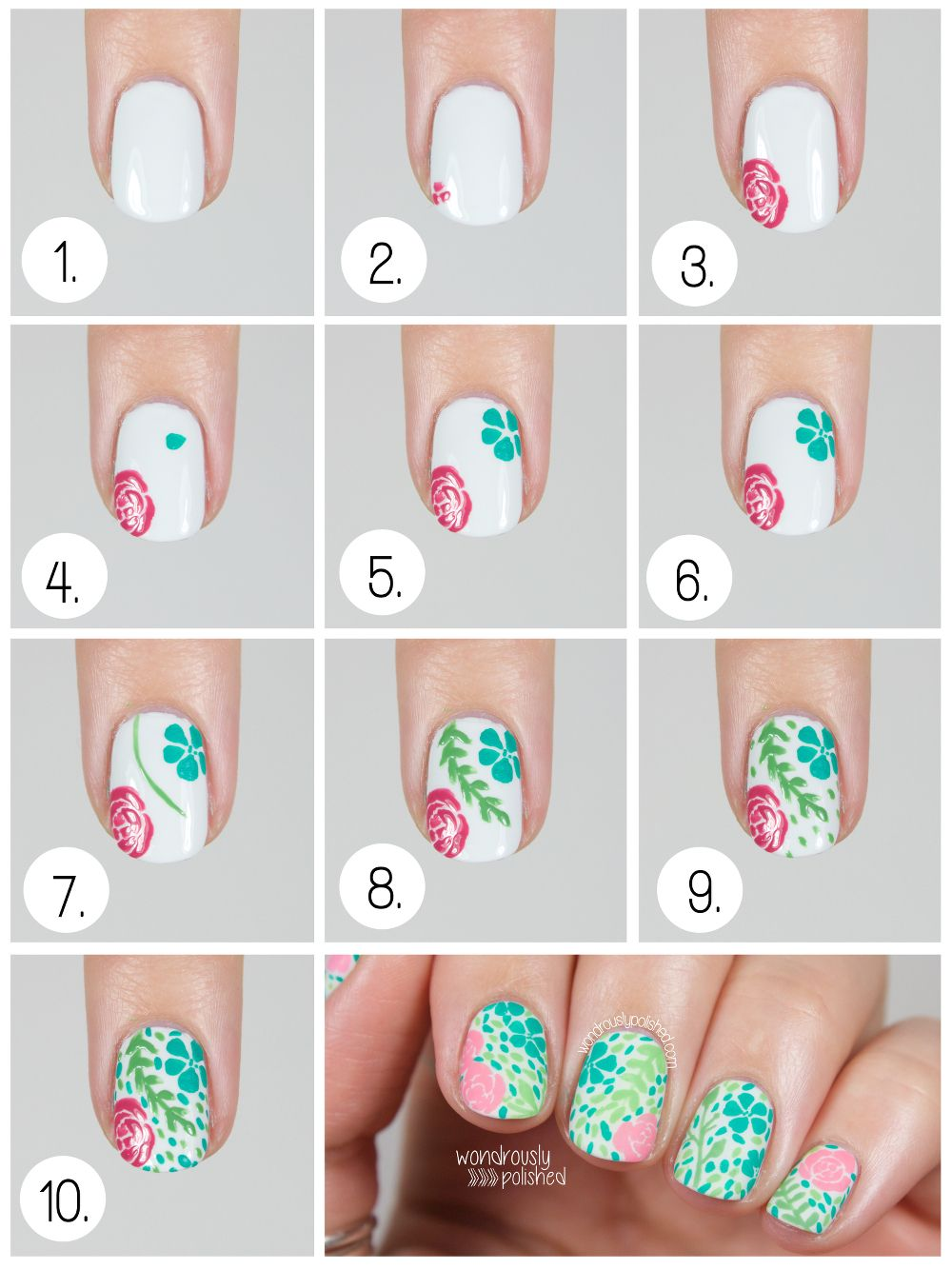 Pin On Freehand Nail Art